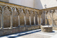 Waterwell in Olite castle Royalty Free Stock Photos