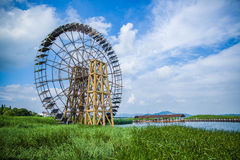 Waterwheel. A big water waterwheel in Taihu Stock Image