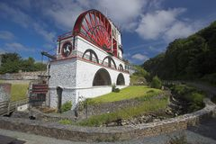 Waterwheel de Laxey Photo stock
