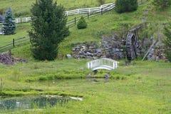 Waterwheel, most, staw fotografia royalty free