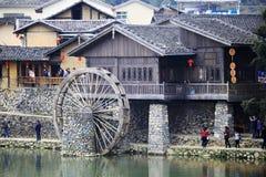 Waterwheel Of Ancient Yunshuiyao Town Stock Image