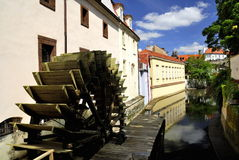 waterwheel prague certovka стоковые фото