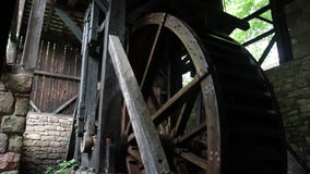 Waterwheel with sound stock video