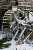Waterwheel stary watermill w Krasnikovo, Kursk region Fotografia Stock