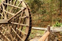 Waterwheel w Jingganshan górze Zdjęcie Stock