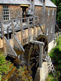 Waterwheel Water powered saw mill. Historic water powered sawmill in Canada royalty free stock image
