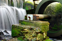 Waterwheel and waterfall Stock Image
