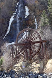 Waterwheel and Waterfall Stock Photography