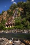 Waterwiel en dalingen, de Lentes van Idaho, Colorado Stock Afbeelding