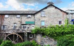 Waterwiel en molen Royalty-vrije Stock Foto