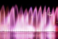 Waterworks on Abrau Lake stock image