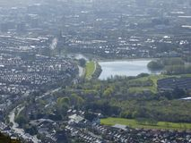 'Waterworks' Reservoir. The Waterworks, central reservoir, Belfast city, taken from the height of Cavehill Royalty Free Stock Image
