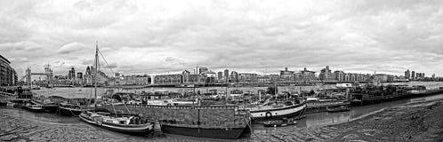 Waterworld在伦敦/bw 免版税库存图片