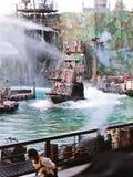 Waterworld är en Live Sea Spectacular dragning arkivbild