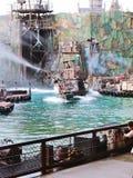 Waterworld är en Live Sea Spectacular dragning royaltyfri bild