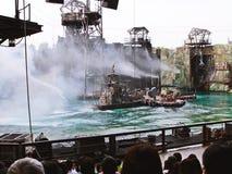 Waterworld är en Live Sea Spectacular dragning royaltyfria foton