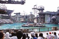 Waterworld är en Live Sea Spectacular dragning royaltyfri foto