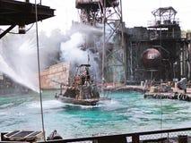 Waterworld é uma atração de Live Sea Spectacular fotos de stock