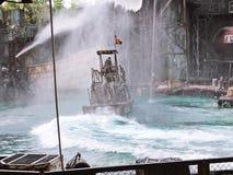 Waterworld привлекательность в реальном маштабе времени Spectacular моря стоковые фото
