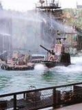 Waterworld привлекательность в реальном маштабе времени Spectacular моря стоковое изображение