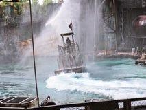 Waterworld привлекательность в реальном маштабе времени Spectacular моря стоковое фото rf