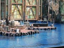Waterworld水展示场面 库存图片