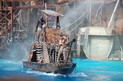 Waterworld. Universal Studios Hollywood Waterworld is a Live Stunt Show based on the 1995 film Waterworld Royalty Free Stock Images