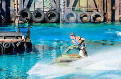 Waterworld aux studios universels Image stock