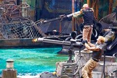 Waterworld jest Żywym Dennym Spektakularnym przyciąganiem Zdjęcie Royalty Free