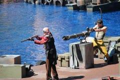 Waterworld på universella studior Hollywood Royaltyfria Bilder