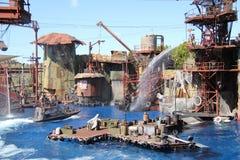 Waterworld på universella studior Hollywood royaltyfria foton