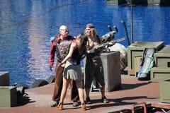 Waterworld på universella studior Hollywood royaltyfri bild