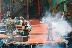 The WaterWorld show stock photo
