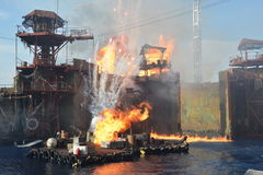 Waterworld show Royalty Free Stock Photography