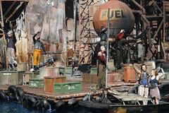 Waterworld show at Universal Studios stock photography