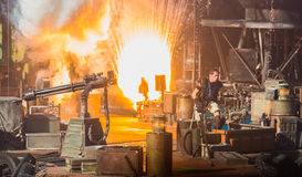Waterworld at Universal Studios. Stuntman is in action in a live stunt show. This is a film scenario of WaterWorld Stock Photography