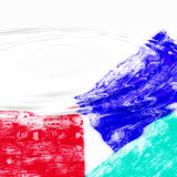 Watery abstract background. An abstract background with red, white and blue colors and three-dimensional ripples spreading over the surface creating the illusion Royalty Free Stock Photo