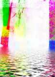 Watery Background. An abstract background with colorful design with water effect Stock Images