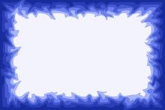 Watery border. Irregular blue border design Royalty Free Stock Image