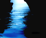 Watery cave vector illustration