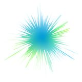 Watery ink splash. Editable vector illustration of a blue-green ink splash made by masking a background color mesh stock illustration