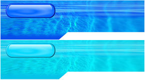 Watery shaped headers Royalty Free Stock Photo