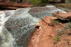 Watery Trail. The subway district, zion national park, utah Stock Photography