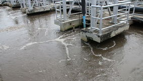 Waterzuiveringsinstallatie stock video