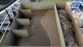 Waterzuiveringsinstallatie stock footage