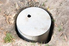 Waterzuiveringsinstallatiecement goed Stock Afbeelding