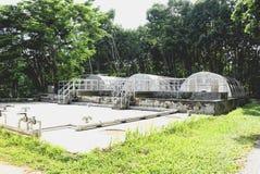 Waterzuiveringsinstallatiemateriaal stock foto's