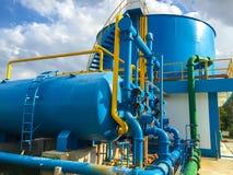Waterzuiveringsinstallaties stock afbeeldingen