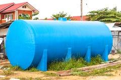 Waterzuiveringsinstallatietank stock foto's