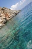 Wather azul en Zakynthos Foto de archivo